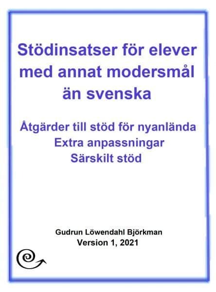 Stödinsatser för elever med annat modersmål än svenska - omslag